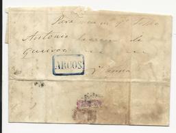 Portugal Letter 1858 Arcos???? - 1855-1858 : D.Pedro V