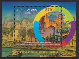 ARMENIA, 2018, MNH, XVII FRANCOPHONIE SUMMIT, YEREVAN 2018, MOUNTAINS, BOATS,  S/SHEET - Languages