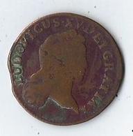 France Ludovicus XV 1720 AA, Louis XV - 1/2 Sol - 1720, Metz - 987-1789 Royal