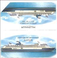 Jb5.o- Invitation Paquebot MILLENIUM 2000 RCCL Royal Caribbean Cruises Chantiers De L'Atlantique Alstom FRANCE Naval - Bateaux