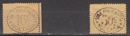 CHILI 1894  VALPARAISO  STAMPS  16  &  30 C   MH  YELLOW PAPER - Chile