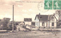 COURTENAY  -  Rue De La Halle Aux Veaux  -  Belle Carte - Courtenay