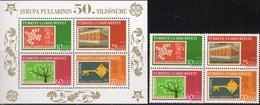 CEPT 2006 Türkei 3495/8 VB+Block 59 ** 20€ Bloques S/s Stamps On Stamp Hojita Blocs Bf Topic Sheets 50 Years EUROPA - Europa-CEPT