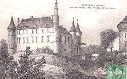 COURTENAY  -  Ancien Château Des Princes De Courtenay  -  Jolie Gravure - Courtenay