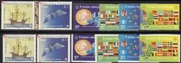 Ölzweig 50 Jahre EUROPA 2006 Bosna 419/2A+B,Hrvatska 734/5+ZD ** 72€ Karte Flaggen Möwe Flugzeug Ships Sets Of CEPT - Europa-CEPT
