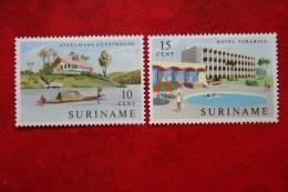 Gelegenheidszegels Hotels; NVPH 386-387 Mi 423-424; 1962 POSTFRIS / MNH ** SURINAME / SURINAM - Surinam ... - 1975