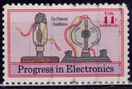 United States, 1973, Airmail, Electronics Progress, 11c, Sc#C86, Used - Luftpost
