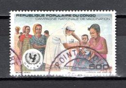 CONGO  PA  N° 379  OBLITERE  COTE  4.00€  VACCINATION  UNICEF - Oblitérés