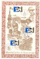 France. 3 Timbres. Cachet 1er Jour. 1997. Sur Encart De Soie Dédié Au Maréchal Ph. Leclerc De Hauteclocque. - Guerre Mondiale (Seconde)