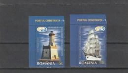 LIGHTHOUSEES,SHIP,CONSTANTA 2009,MNH,FULL SET ROMANIA. - Phares