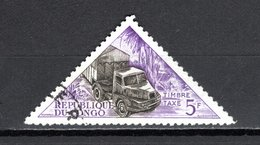 CONGO  TAXE  N° 40   OBLITERE  COTE  0.30€    TRANSPORT  CAMION  VELO - Congo - Brazzaville