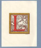 Vintage EX LIBRIS  /  BOOKPLATE Print Portugal XAVIER DA COSTA - Ex-libris