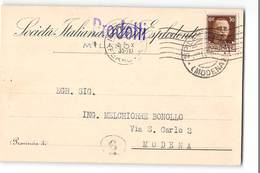 AG-B171 01 SOC. ITALIANA PRODOTTI ESPLODENTI MILANO X MODENA - 1900-44 Vittorio Emanuele III
