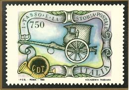 "Poste Italiane, ""I Tasso E La Storia Postale"", Calesse Postale, Emissione Francobolli 2.10.1993 - Poste & Postini"