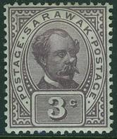 SARAWAK 1908 KEVII 3c Dull Purple SG 38 Mounted Mint - Sarawak (...-1963)