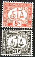 HONG KONG 1946 Dues SG D9 & D11 Lightly Mounted Mint - Hong Kong (...-1997)