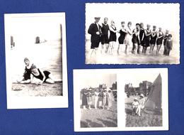 DUNKERQUE MALO LES BAINS   59 ( LOT DE 3 CARTES PHOTOS  ) BAIGNEUSES BAINS DE MER   CARTE PHOTO - Dunkerque