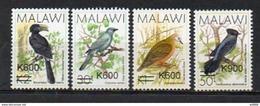(048) Malawi / 2017 / Birds / Black Overprints / Surcharges Noirs / Schw. Aufdruck ** / Mnh  Michel 960-63 - Malawi (1964-...)
