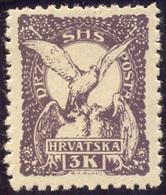 CROATIA - JUGOSLAVIA - SHS - FALCON Bird  3 Kr - **MNH - 1919 - Eagles & Birds Of Prey