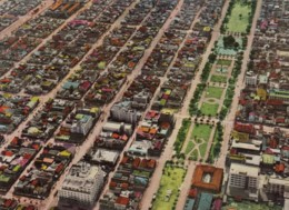 Sapporo City Japan Aerial View Of City, C1960s Vintage Postcard - Japon