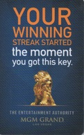 Carte Clé Hôtel Avec Casino Adjoint : MGM Grand : Your Winning Streak Started The Moment You Got This Key - Cartes D'hotel