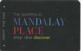 Carte Clé Hôtel Avec Casino Adjoint : Mandalay Bay Las Vegas : The Shoppes At Mandalay Place - Cartes D'hotel