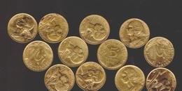 5 Centimes Marianne  1978 à 1996   12 Pièces TTB+ - C. 5 Centimes