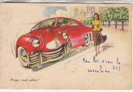 AUTO_AUTOMOBILI-HUMOR -UMORISMO-INTEGRA E ORIGINALE 100%an2 - Cartes Postales