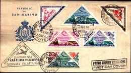 74611) SAN MARINO-FDC-Giornata Filatelica - POSTA AEREA - 23 Agosto 1952 - FDC