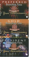 Lot De 3 Cartes Membre Casino : Thunder Valley Casino Boarding Pass 1 Year Anniversary : Preferred - Gold - President - Cartes De Casino