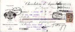 MANDAT CHOCOLAT D'AIGUEBELLE Année 1907 - France