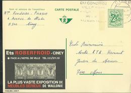 Publibel Obl. N° 2390 ( Ets ROBERFROID Ciney ) Obl ; Ciney 1974 - Stamped Stationery