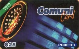 Dominicana - DMC026A, Comuni Card, Phone Booth, Edition 1995, $25, Exp.12/96, Used - Dominicaanse Republiek