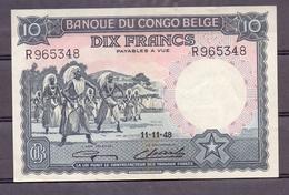 Belgian Congo  Kongo  10 Fr 1948  SUP  AU - [ 5] Congo Belga