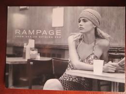 CPM PUBLICITAIRE Mode RAMPAGE 1997 - Photo Arnell - Go Card Noir Et Blanc - Moda