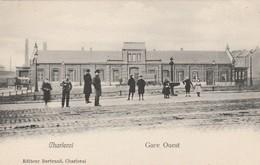 Charleroi , Gare Ouest ,  ( Bertrand ) à L'avant  Rail Du  Tram - Charleroi