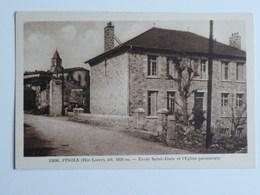 PINOLS Ecole Saint Alain Et L'Eglise Paroissiale - France