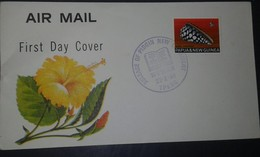 L) 1960 PAPUA & NEW GUINEA, CONUS MARMOREUS, SNAIL, SEA SHELLS, FLOWER, AIR MAIL, FDC - Papua New Guinea