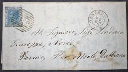 Annullo Numerale GENZANO Numerali Lazio - 1861-78 Vittorio Emanuele II