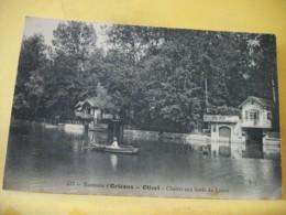 45 6656 CPA 1915 - 45 ENVIRONS D'ORLEANS. OLIVET. CHALETS AU BORD DU LOIRET - ANIMATION BARQUE - Autres Communes