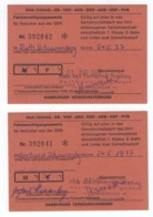 DEUTSCHLAND/ BRD - 2x Fahrkarte 1977 Hamburger Verkehrsverbund - 905 - Europe