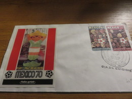 Enveloppe Coupe Du Monde Football 1970 MEXICO - Fußball-Weltmeisterschaft
