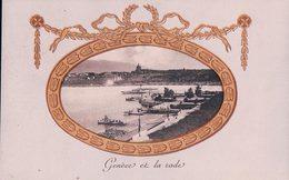 Genève Et La Rade En Médaillon, Bateau à Vapeur (16.9.10) - BE Berne