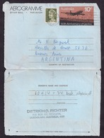 Australia - 1971 - Airmail - Aerogram - 50th Anniversary Of Qantas - Sent To Argentine - Aerogramas