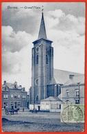 CPA Belgique Belgie HORNU (BOUSSU) Grand'Place (Eglise) ° Edition De Mmes Veuves Renard & Vilain * Phila Taxe Clamart - Boussu