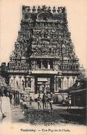 CPA Pondichéry - Une Pagode De L'Inde - India