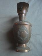 Ancien Vase En Cuivre Création Lyon - Cuivres