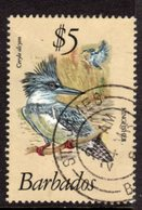 BARBADOS - 1979 $5 BELTED KINGFISHER BIRD FINE USED CDS REF C SG 637 - Barbades (1966-...)