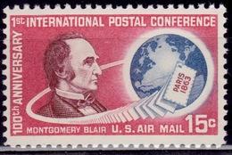 United States, 1963, Montgomery Blair, 15c, Sc#C66, MNH - Luftpost