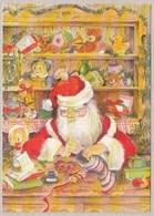Santa Claus Is Filling Christmas Sock - Santa Claus